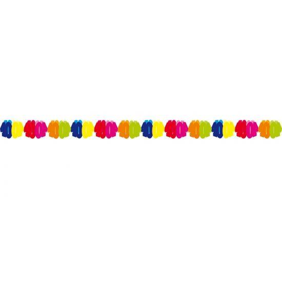 Papieren slinger 40 jaar. Gekleurde slinger voor een 40 jarige verjaardag. Deze papieren slinger 40 jaar is 6 meter lang.