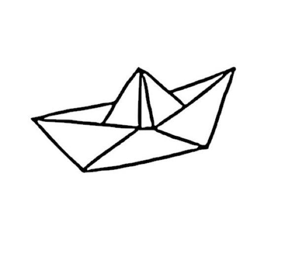 bateau origami forme flex thermocollant customisation vêtement pas si godiche !