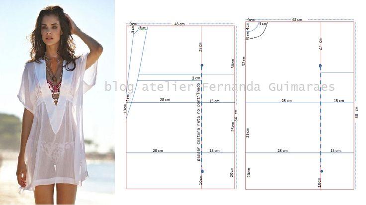 Blog Atelier Fernanda Guimaraes: Saída de praia prática    Saída de praia tamanho M...