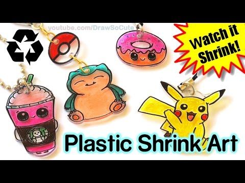 DIY How to Make Shrink Charms with Recycled Plastic step by step - YouTube