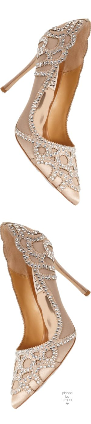 These gorgeous high heels would be an ideal wedding shoe! Badgley Mischka 'Rouge' Pointy Toe Pump