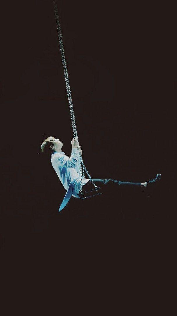 Jungkook on a swing = beauty