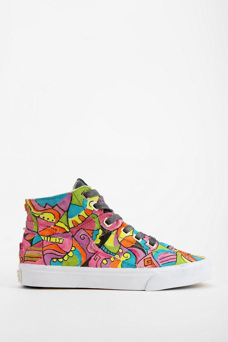 Project Canvas X Shawnette Primary High-Top Sneaker #urbanoutfitters