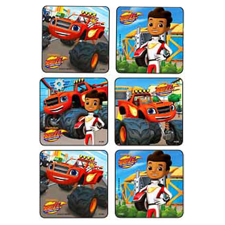 Sticker Pack - Blaze & the Monster Machines. Stickers are great party favors or decorating favor Bags