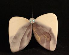Zebra Stone butterfly hanging ornament.