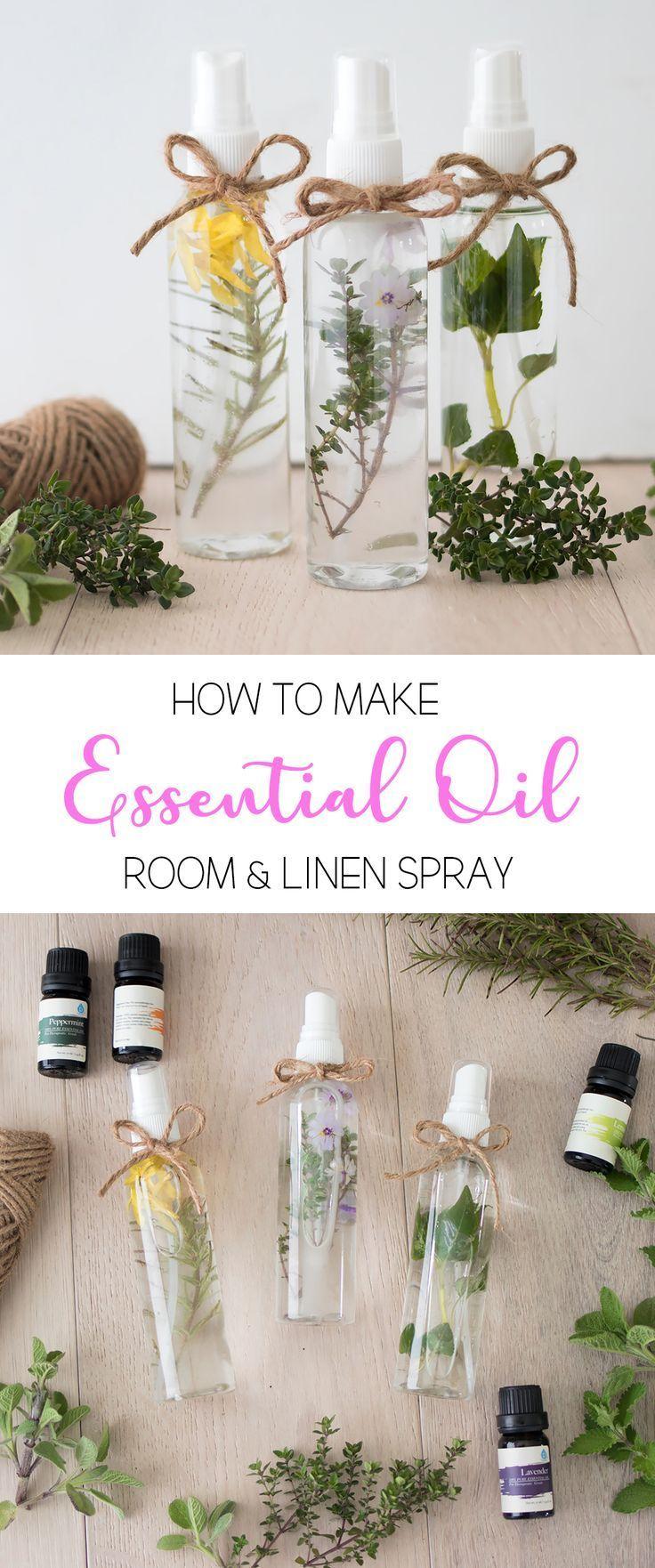 Wie man ätherische Öle und Leinenspray macht
