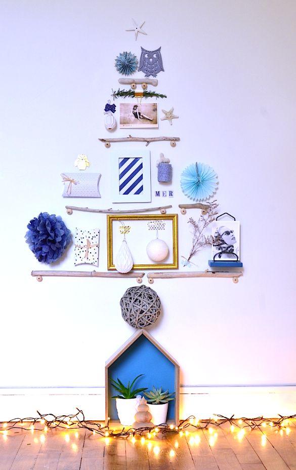 DIY : mon sapin de Noël dans un esprit bord de mer, avec du bois flotté. A découvrir sur : http://blogatmosphere.com/diy-un-sapin-de-noel-esprit-bord-de-mer/