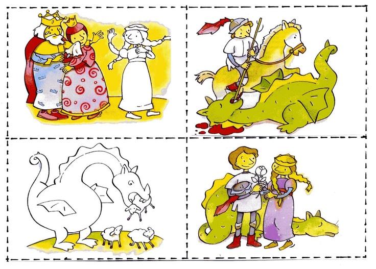 Seqüència de la llegenda de Sant Jordi.