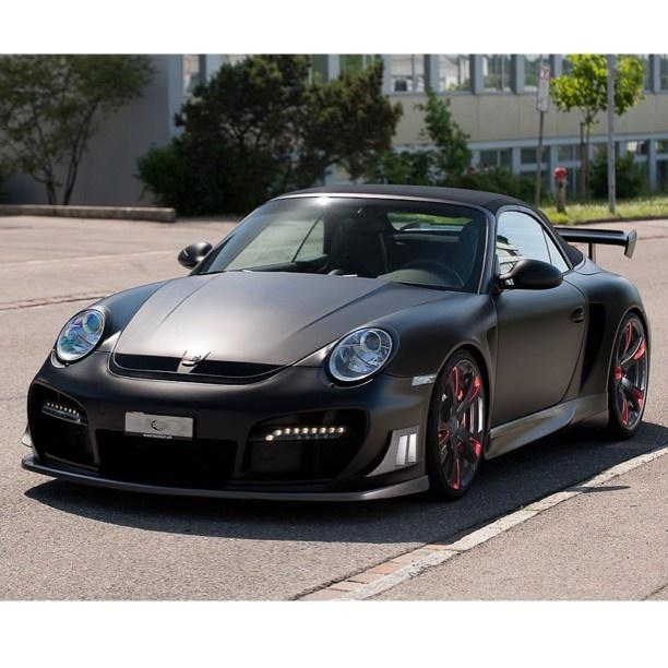 Matte Black Porsche Carrera