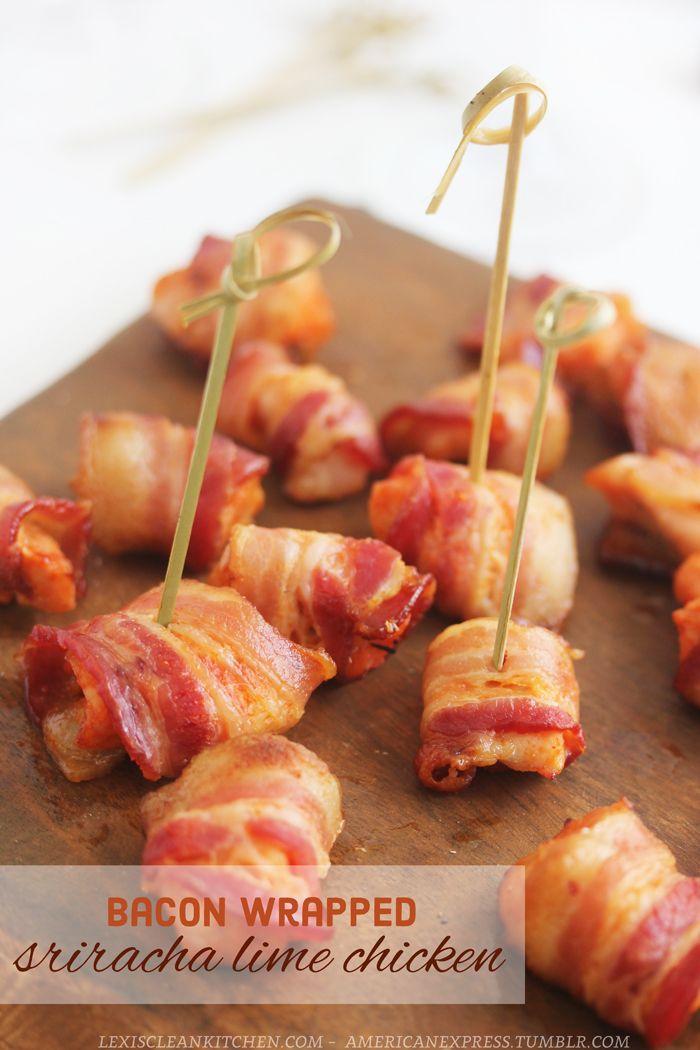 Bacon Wrapped Sriracha Chicken