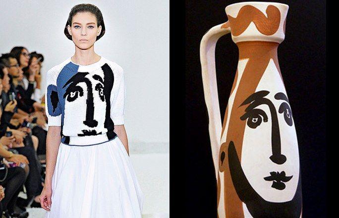 Picasso e Jil Sander - Arte e moda: i quadri diventano moda