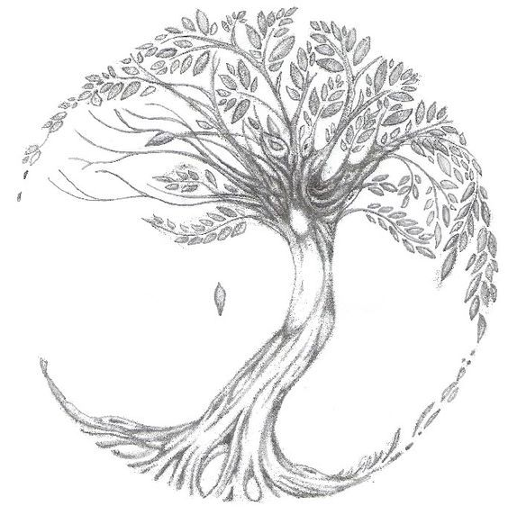 Wonderful Tree Of Life Tattoo Sketch