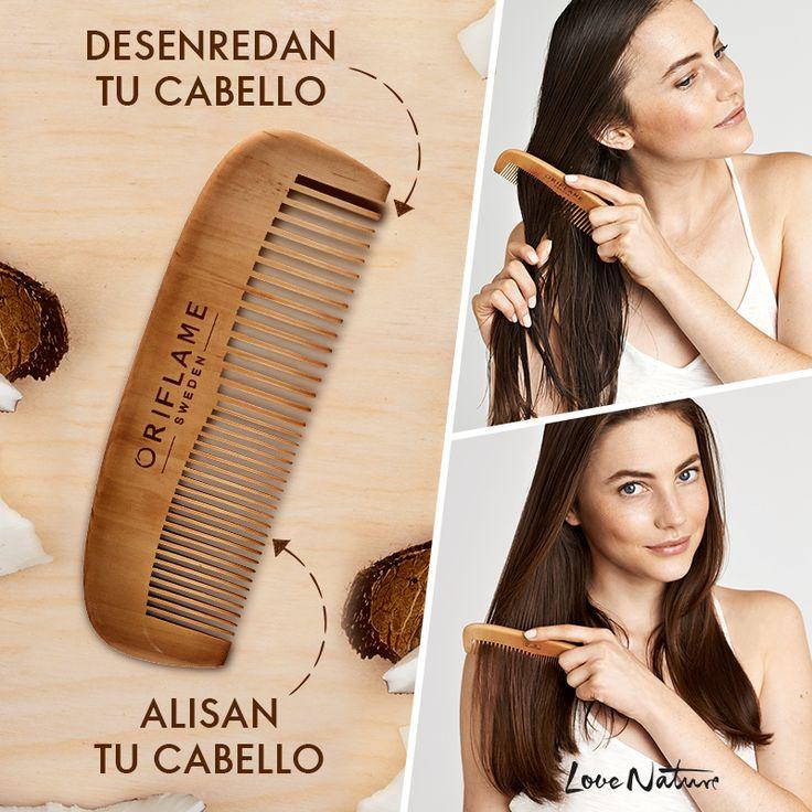 Después de lavar tu cabello con #LoveNature ❤️, ¡desenrédalo con el complemento perfecto! Este peine de madera también es amigable con el medio ambiente, pues está elaborado a base de materiales de origen natural