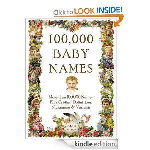 100,000 Baby Names Book :)