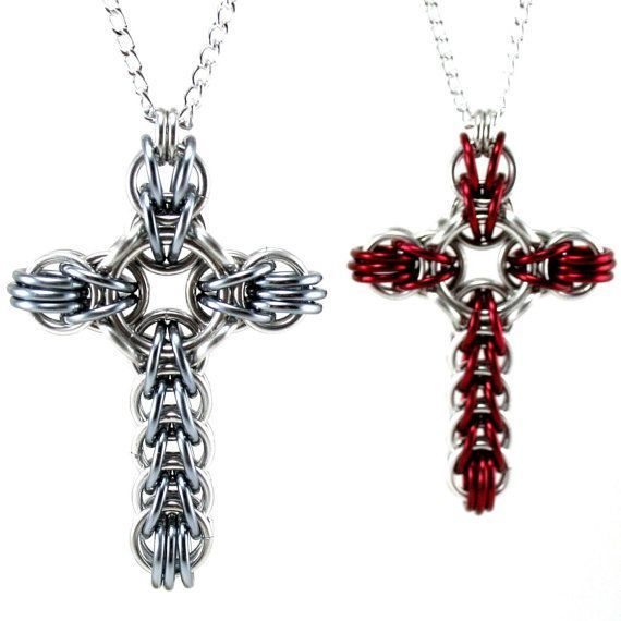 Take a peek - Full persian Celtic cross chainmaille tutorial. - cheap mens gold jewelry, expensive mens jewelry, mens designer jewelry brands Use PIN10 for 10% off !:)