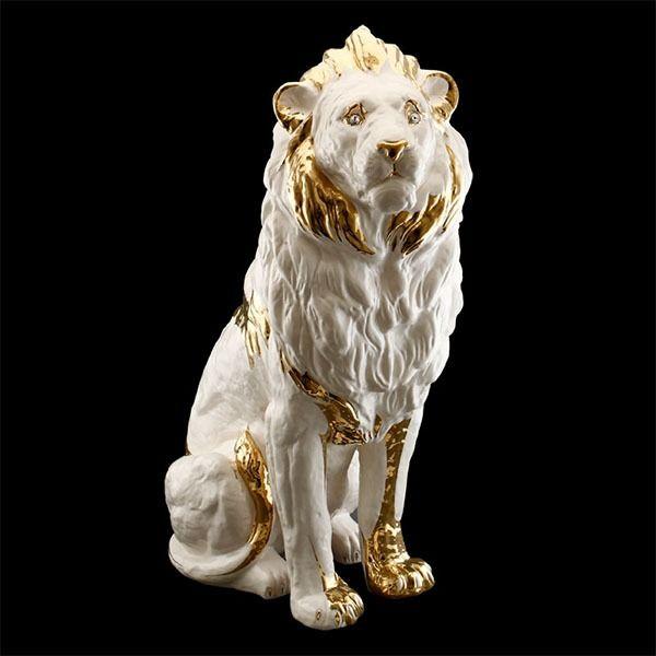 Купить Статуэтка лев AHURA Размеры: 60х38х93 см по цене 97 950 руб. в интернет магазине AlleyPlates.ru