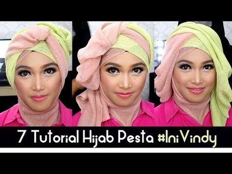 7 Tutorial Hijab Pesta dan Wisuda Inivindy - YouTube
