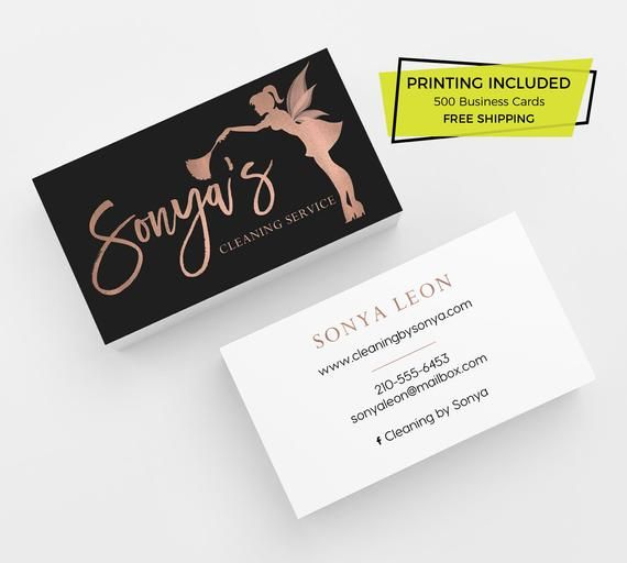 Rose Gold Cleaning Business Card 500 Printed Business Cards Etsy Cleaning Business Cards Calling Card Design Minimalist Business Cards