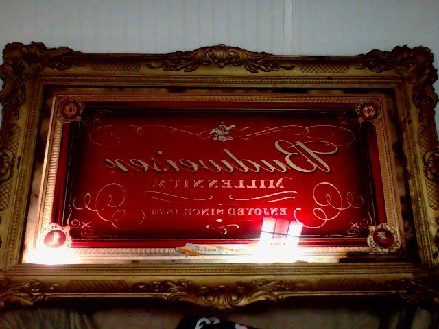 Budweiser Millennium Mirror Bar Sign | Signs, Bar and Mirror