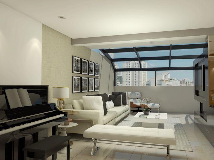 Sala de Estar apartamento P| H  -  projeto Rubatino Arquitetura.  #sala #saladeestar #saladejantar #decoração #arquiteto  #projetodeinteriores #livingroom