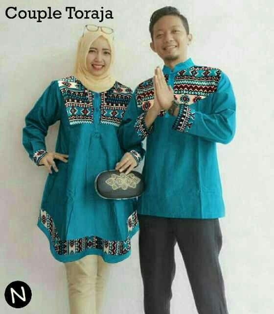 Couple Toraja 103-01 Bahan Katun Popline Mix Katun Soket Ukuran L Besar  Lingkar dada -Pria L Besar 100 cm -Wanita L Besar 100 cm Kancing Aktif  Bahan Ok dan Jahitan Rapi enak dipakai  - Cocok untuk lebaran dan berpergian