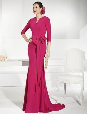 Vestidos elegantes color fucsia