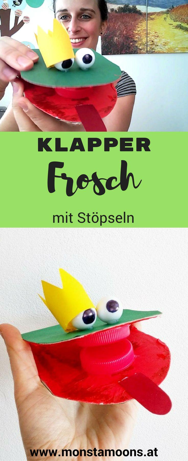 Klapperfrosch, Frosch basteln, Frosch DIY, frog craft, spring craft, DIY noisy frog (Mix Kids)