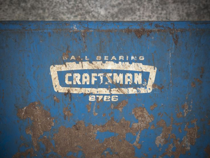 Craftsman logo from an old wheelbarrow. | by Draplin
