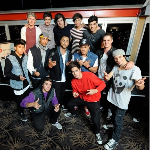 One Direction with Justice Crew & Johnny Ruffo