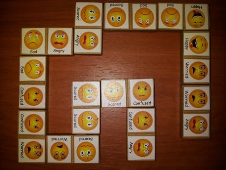 Works on the same principle as domino's but helps children become familiar with the facial expression of different emotions.