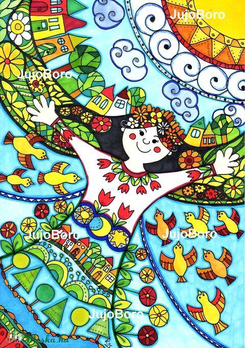 Én, és  a világ, Baba-mama-gyerek, Dekoráció, Képzőművészet , Ünnepi dekoráció, Karácsonyi, adventi apróságok, Meska