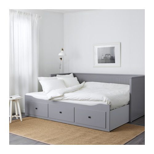 hemnes tagesbett3 schubladen2 matratzen graumalfors fest ikea - Tagesbett Ikea
