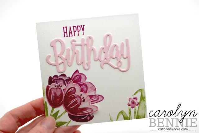 Carolyn Bennie - Australian Independent Stampin' Up! Demonstrator. Tranquil Tulips - Stampin' Up! Hostess stamp set.