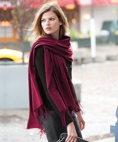 best ways to wear a pashmina scarf
