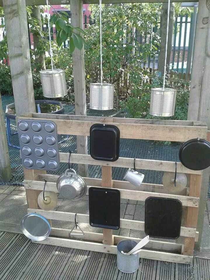 Outdoor Music Hanging Cans Are Fun Outdoor Play