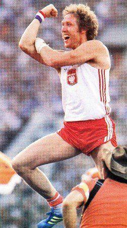 Władysław Kozakiewicz pole vault jumper - Olympic champion 1980