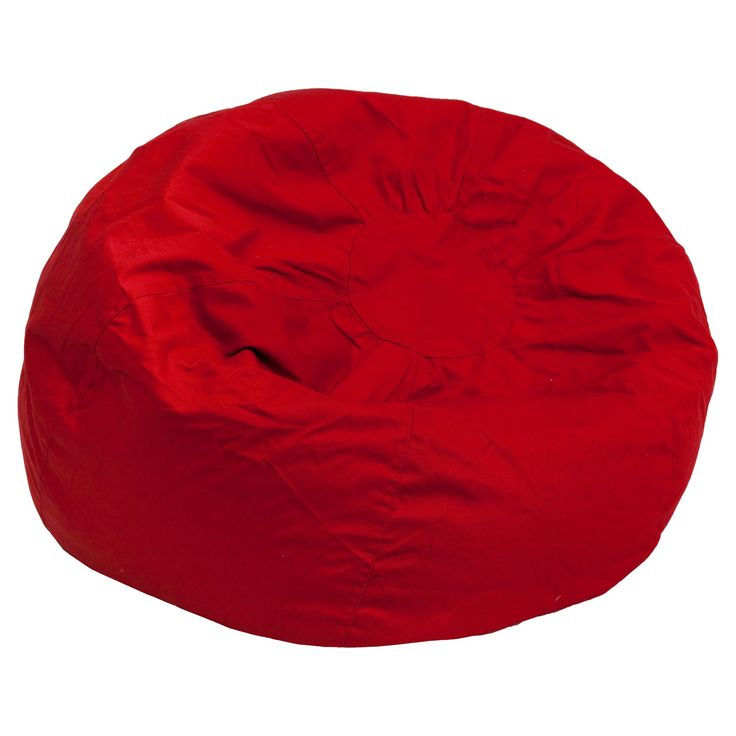 Oversized Bean Bag Chair - Red - Flash Furniture