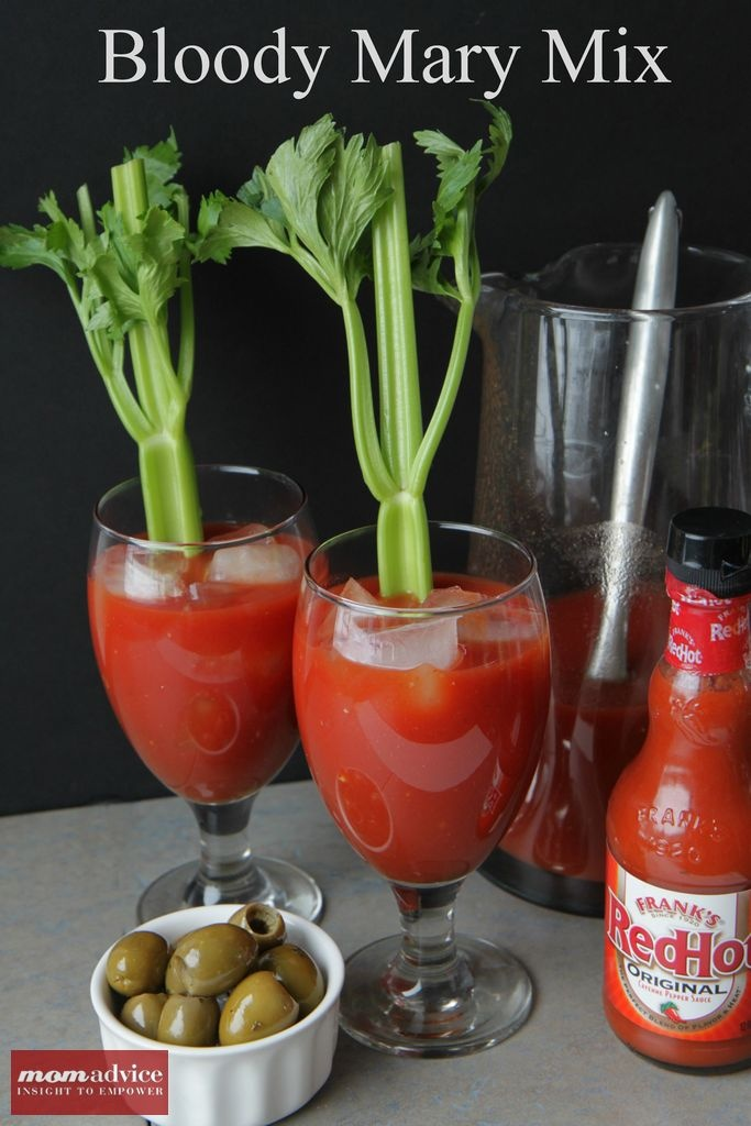 Easy Bloody Mary Mix from MomAdvice.com.: Adult Only Drinks, Easy Mixed Drinks Alcohol, Yummy Drinks, Yummy Recipe, Adult Beverages, Bloody Mary Mixed, Adult Drinks, Easy Bloody, Bloody Mary Easy
