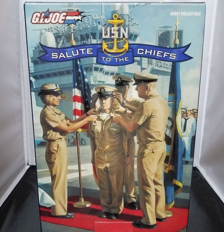 Hasbro GI Joe 'Salute to the Chiefs' Collectible USN Navy Action Figure 2005 NIB #Hasbro
