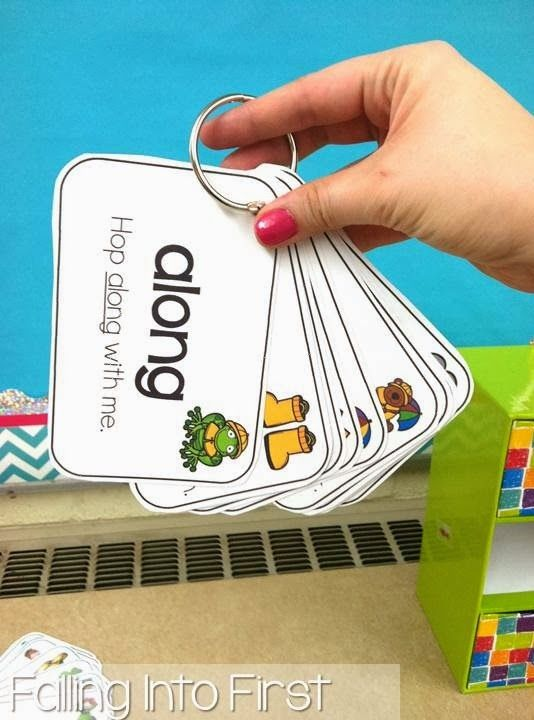 Sight word cards. Organize into sets of 10-20 and put them on rings. Students can read at their seat or in guided reading groups