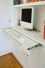 Hideaway desk in alcove                                                                                                                                                                                 More