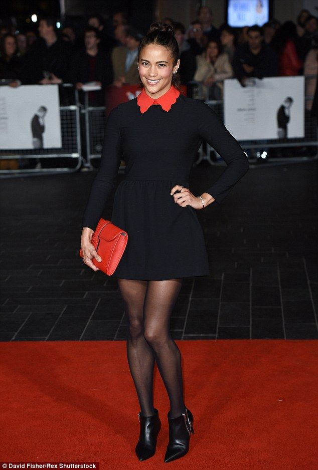 Stunner: Paula Patton appeared to be having a wonderful time as she attended the premiere for new biopic, Steve Jobs at the BFI London Film Festival on Sunday.