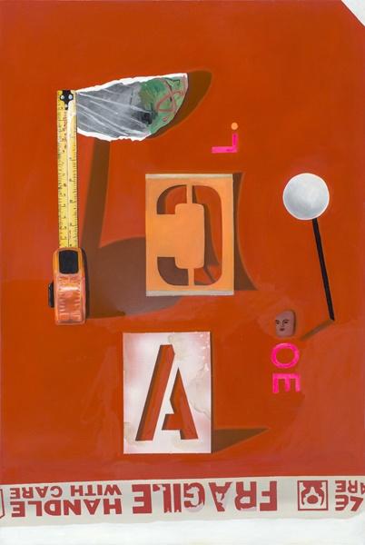 """LOOK OUT FOR JON DOE – 2012 - oil & spray paint on canvas - 90cm x 60cm, 23.5"""" x 35  www.fionaackerman.com"""