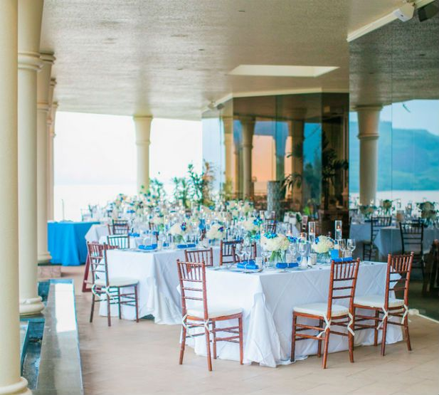 Romantic Wedding at The St. Regis Princeville Resort, Hawaii (Photo by Clane Gessel Photography)
