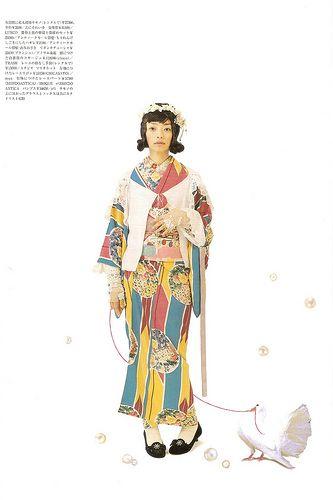Kimono-hime issue 6. Fashion shoot page 6 | par Satomi Grim