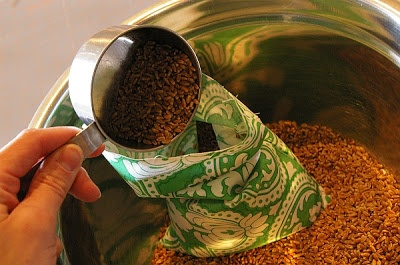 tutorial ~ how to make hot & cold sacks with wheat or rice ...