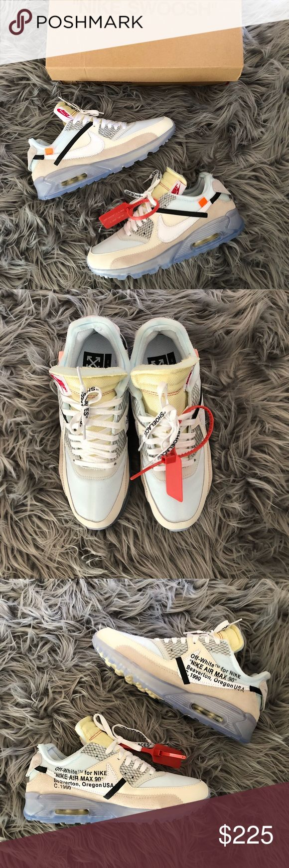 Off White x Nike Air Max 90 Swoosh The Top Ten Size: 10 but fits like 9.5 (This goes for all normal Max 90 pairs)  Condition: 10/10.   * Ships within 24 hours or less EXCLUDING weekends. Submitted offers will be responded ONLY!   Prada Louis Vuitton Chanel Goyard LV Luluemon Burberry Hermes Berkin Nike Purse Adidas Yeezy Supreme Bape Box Logo Jacket Zara HM Luxury YSL Saint Laurent Versace Balmain Amiri Gucci Monogram Demin All Off White Givenchy Vintage Fur Off-White Shoes