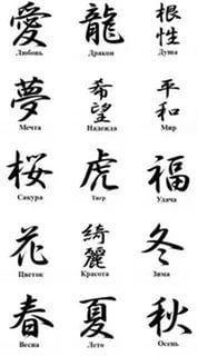 Японские иероглифы тату секс и любовь