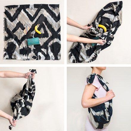Neugierig, wie man ein Sommertuch in eine Handtasche verwandeln? In fünf einfachen Schritten zeigen wir dir, wie es geht. Für eine unerwartete und doch elegante Art, ein klassisches Accessoire zu tragen.