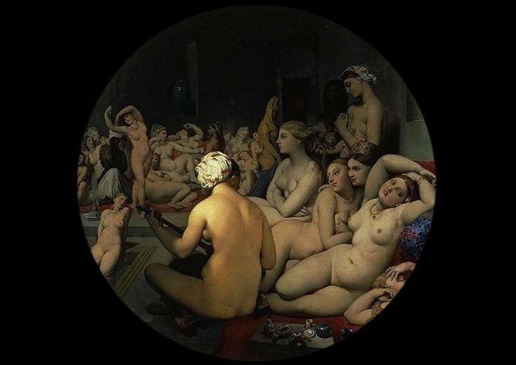 Il bagno turco, Jean-Auguste Dominique Ingres, 1862.